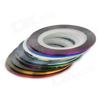 10-color-nail-painting-drawing-gold-silver-threads-lines-multicolored