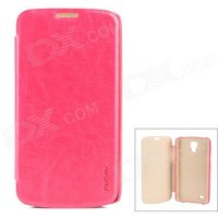 pudini-wb-i9295r-protective-pu-leather-pc-case-for-samsung-galaxy-s4-active-i9295-deep-pink