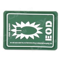 Free Soldier Decorative Rubber Velcro Armband - Green + White