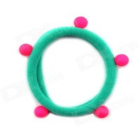 cute-little-dark-green-rubber-band-ball-fluorescence-tousheng-hair-band-hair-rope-headdress