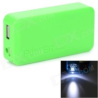 stylish-2-x-18650-battery-holder-external-power-charger-w-1-led-flashlight-green