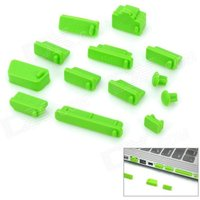 universal-laptop-13-in-1-silicone-dust-proof-plugs-set-green