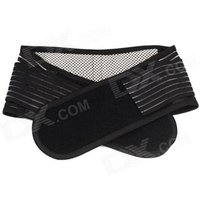 pull-pain-relief-waist-lower-back-support-belt-breathable-brace-black