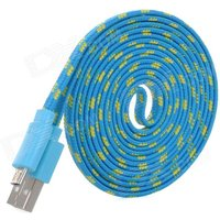 woven-micro-usb-male-to-usb-male-data-cable-for-note-101-p600-blue