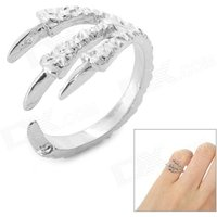 lx-005-eagle-claw-style-joint-tail-ring-silver