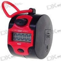 """0.9"""" Lcd 5-digit Electronic Digital Tally Counter - Black + Red"""