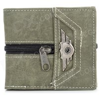 wb-2097-men-casual-retro-punk-style-zipper-pu-wallet-army-green
