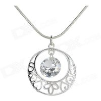 women-hollow-out-pendant-necklace-silve