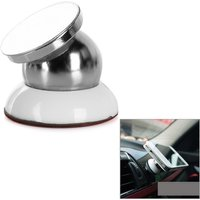 universal-360-rotary-magnetic-car-mount-holder-white-silver