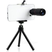 universal-tripod-w-holder-8x-telescope-lens-for-cellphone-black