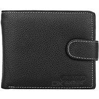 stylish-head-layer-cowhide-leather-folded-wallet-purse-for-men-black