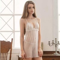 women-sexy-lace-babydoll-lingerie-nightdress-white