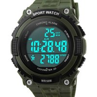 skmei-50m-waterproof-outdoor-sports-watch-w-pedometer-army-green