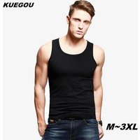kuegou-men-plain-colour-sports-vest-t-shirt-black-3xl
