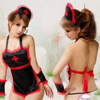 europe-sexy-temptation-aprons-nursing-uniforms-lingerie-black-red
