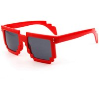 unisex-anti-uv-mosaic-style-pc-frame-ac-lens-sunglasses-red-grey