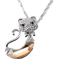platinum-plating-nifty-jazz-cat-style-necklace-silver-champagne