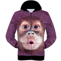fashionable-3d-orangutan-printing-hooded-coat-purple-red-xxl