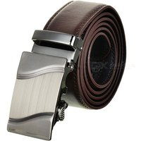 men-parallel-curves-pattern-leather-belt-w-buckle-brown-120cm