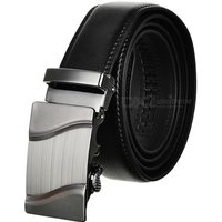 men-parallel-curves-pattern-leather-belt-w-buckle-black-120cm