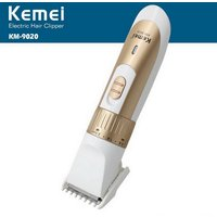 kemei-km-9020-portable-rechargeable-men-electric-hair-clipper-trimmer-shaver-golden-white