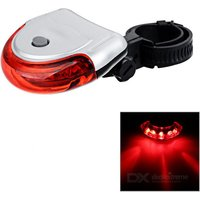 Soldier Xc-767 5-led 3-mode Red Light Ultra Bright Bike Tail Light (2 X Aaa)