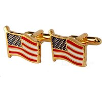 jewelry-brass-material-waving-flags-shape-cufflinks-golden-red-pair