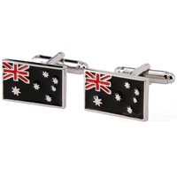 jewelry-brass-material-flags-shape-cufflinks-silver-multicolored-pair