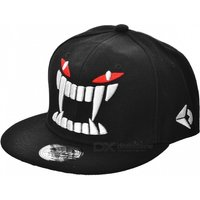 snakeskin-pattern-hip-hop-baseball-flat-peak-cap-hat-black