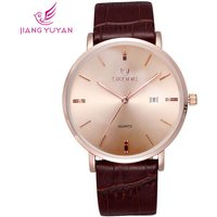 skone-508403-unisex-business-watch-w-calendar-rose-gold-coffee