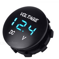 Car Motorcycle Water Resistant 1quot LED Light Voltmeter 1quot Digital Voltage Display with Indicator Light for Truck / Boat / Marine