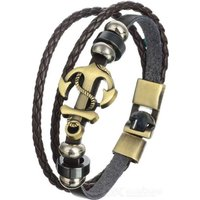 fashionable-leather-alloy-multi-layer-bracelet-brown-bronze