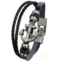 fashionable-leather-alloy-multi-layer-bracelet-black-bronze