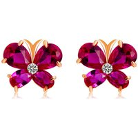 xinguang-woman-butterfly-style-earrings-rose-gold-dark-pink