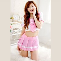 role-play-students-uniform-pink-white