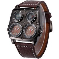 oulm-sports-dual-time-zone-compass-thermometer-decoration-watch-brown
