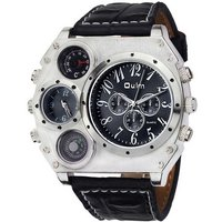 oulm-men-dual-time-zone-compass-thermometer-decoration-watch-black