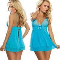 europe-style-sexy-lace-decorated-bowknot-slip-dress-lingerie-blue