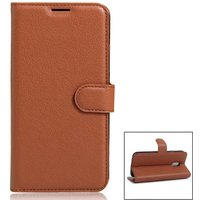 pu-leather-wallet-cases-w-card-slots-for-xiaomi-redmi-pro-brown