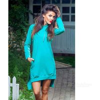 fashion-irregular-spandex-long-sleeved-hooded-dress-blue-l