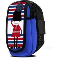 Outdoor Running Armband Arm Bag For 5.8 Inch Mobile Phone - Blue