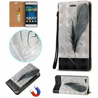 3d-embossed-feathers-pattern-magnetic-pu-case-for-huawei-p8-lite