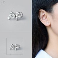 creative-spelling-english-alphabet-p-stud-earring-for-women-silver