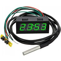 Eastor Car Time / Voltage / Temperature Meter w/ 2quot LED Display