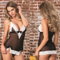 sexy-mini-lace-decorated-net-yarn-skirt-underwear-suit-black-white