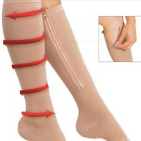 women-thin-leg-burn-fat-varicose-veins-zipper-compression-knee-socks