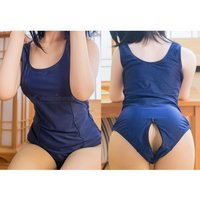japanese-zipper-open-crotch-student-swimsuit-navy-blue