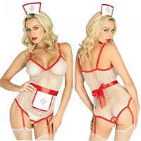 sexy-perspective-mesh-crotch-open-nurse-uniform-suit-white-red