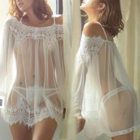 sexy-translucent-off-the-shoulder-net-yarn-lingerie-white-xxl