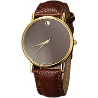 unisex-simple-casual-style-two-pointer-quartz-watch-dark-brown